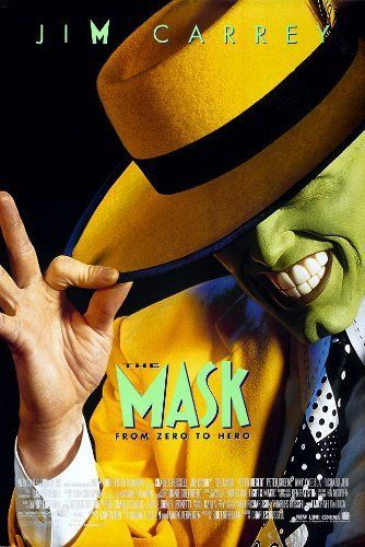 The Mask (1994) Bank clerk Stanley Ipkiss is transformed into an manic superhero when he wears a mysterious mask.  Jim Carrey, Cameron Diaz, Peter Riegert