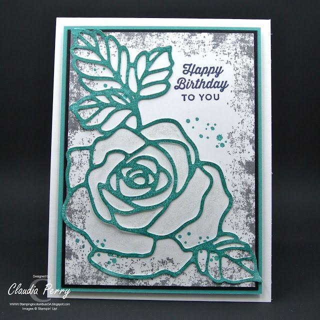 Stamping in Columbus, GA, Rose Garden, Timeless Textures, Stampin' Up!