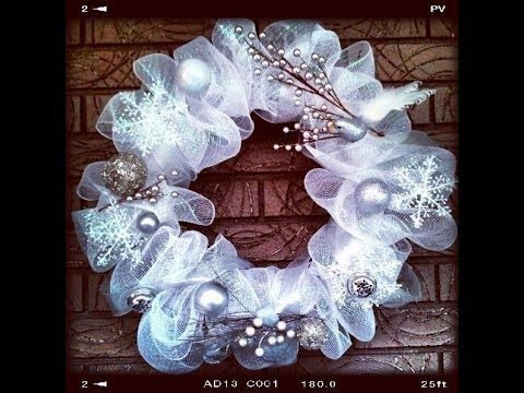 Easy & Quick Tutorial How to make Geo or Deco Mesh Wreath, My Crafts and DIY Projects