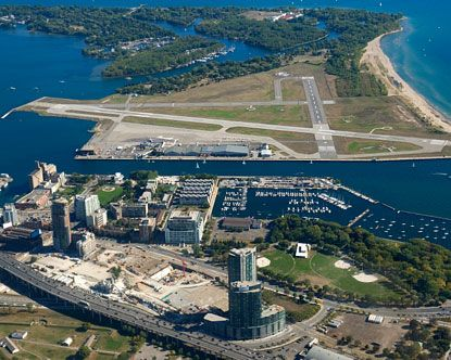 Toronto Island Airport now known as Billy Bishop Airport