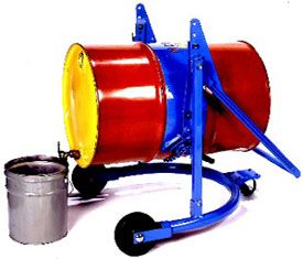 Drum Carriers carry the full weight your drum and allow you to rotate your drum 360 degrees, yet lock the tilt angle of a raised drum. When unlocked, the drum may be turned end-over-end to agitate contents or tipped and held manually at any angle.