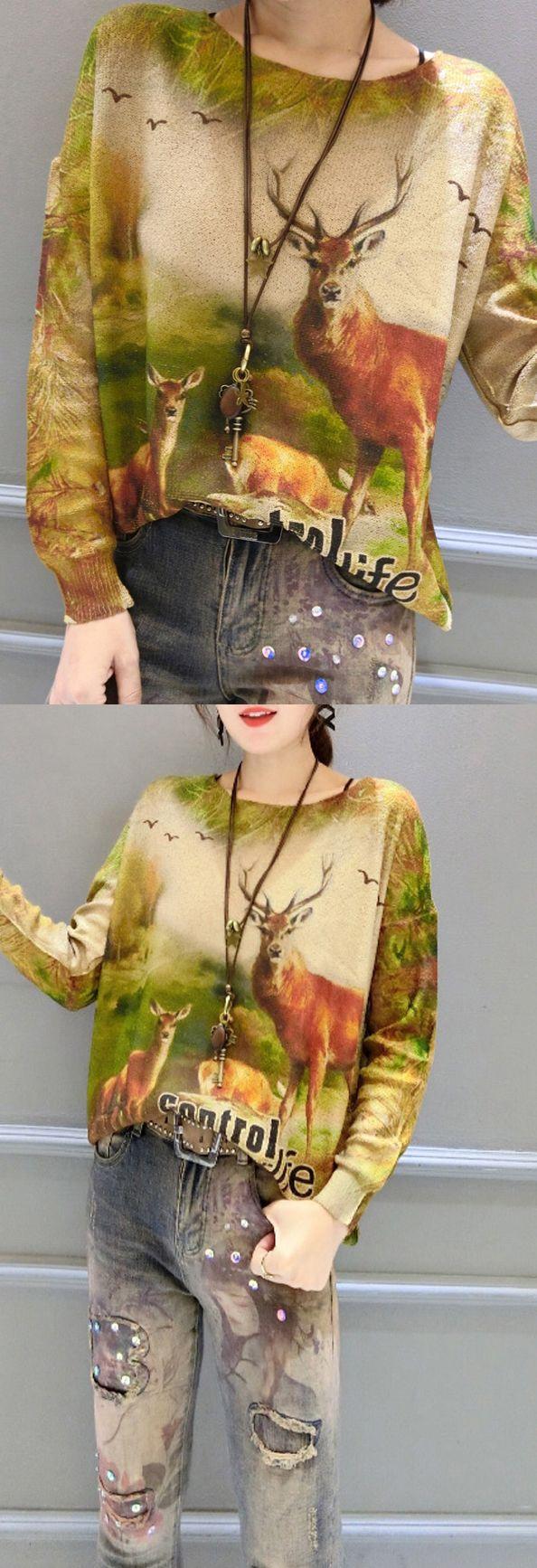 $52.00-winter-animal-print-stylish-sweater-batwing-sleeve-knit-tops