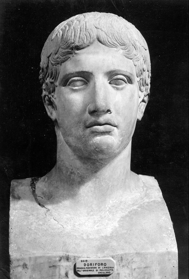 compare augustus and doryphoros Sculpture and paintings followed a rigid formula for representing the human figure which is always depicted with  augustus conquered greece for the roman empire.
