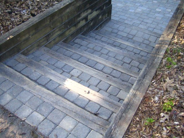 Brick pavers step idea landscaping ideas pinterest Walkout basement landscaping pictures