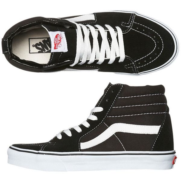 Vans Women's Womens Sk8 Hi Shoe Suede Canvas Women's Shoes Black found on Polyvore