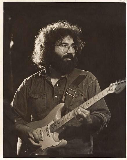 Jerry Garcia Of The Grateful Dead Playing A Fender Strat Guitars