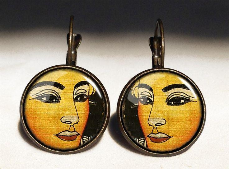 Egyptian Goddess Big Earrings, 0638ERB from EgginEgg by DaWanda.com