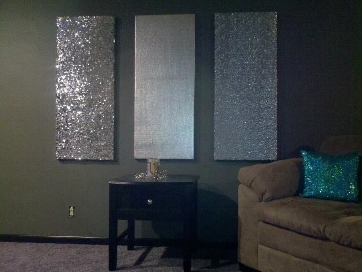 die besten 25 glitter akzent wand ideen auf pinterest. Black Bedroom Furniture Sets. Home Design Ideas