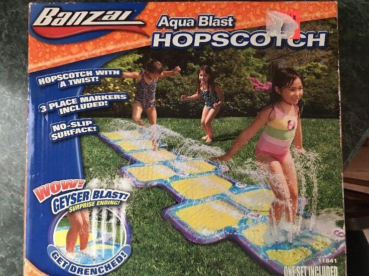Water Splash Pad Banzai Aqua Blast Hopscotch  | eBay