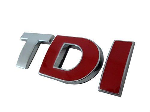 VW TDI Badge with Red DI