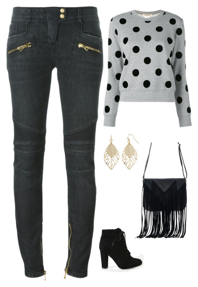 """""""Untitled #1837"""" by netteskytte on Polyvore featuring Balmain, WithChic and Apt. 9"""