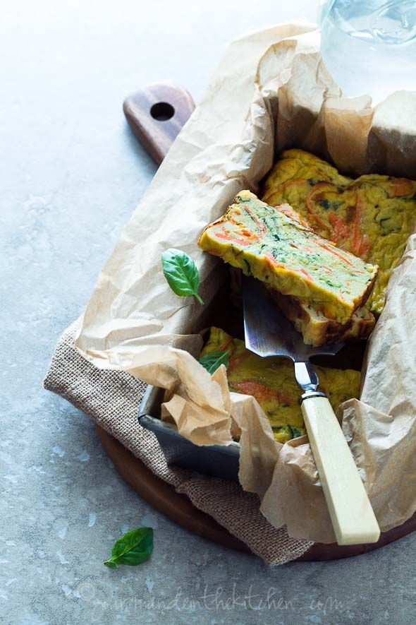 Savory Summer Squash Zucchini and Carrot Vegetable Loaf #food #glutenfree #breakfast