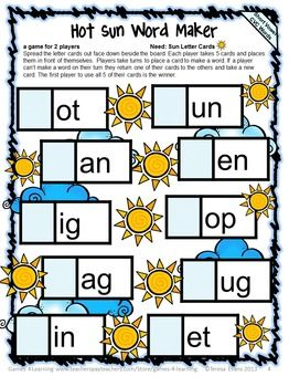 FREEBIE Phonics Game CVC Freebie is a Word Maker Board Game from Games 4 Learning