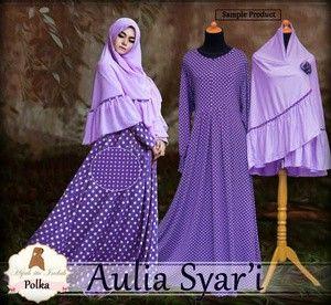 kode produk : 011509 Aulia Polka     maxi bahan jersey korea     bisa busui     bergo lebar no pad     all size fit L ( Pjg 130 cm LD 100 cm)     warna ungu