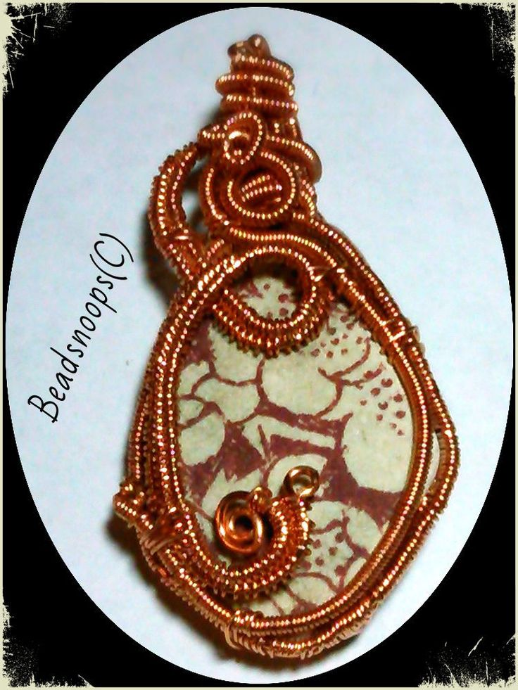"""Excited to share the latest addition to my #etsy shop: Wire wrap weave """"Burgundy wine"""" Scottish beach pottery, pendant http://etsy.me/2DMenVz #jewelry #necklace #red #floral #copper #women #beadsnoops #handmadebysheila #wirewrapped"""