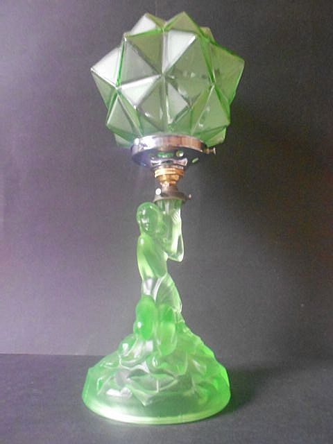 716 best jadite and green depression glass images on for Depression glass floor lamp