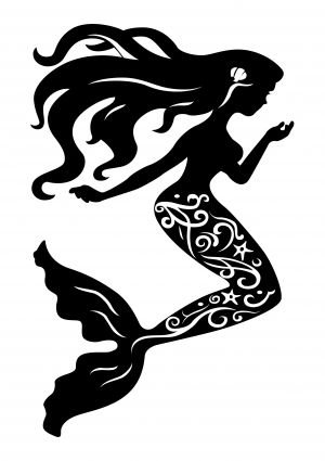 Mermaid silhouette Free vector in Encapsulated PostScript eps ...