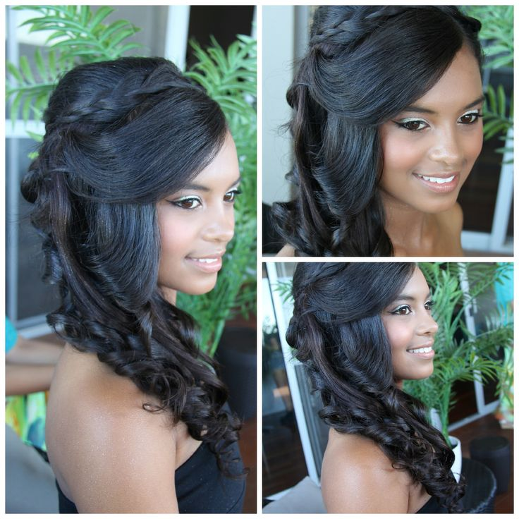 Loving the sparkly eyes and side curls & braid by Total Brides hair & makeup