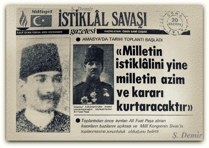 Mustafa Kemal Atatürk Amasya'da. 20.06.1919