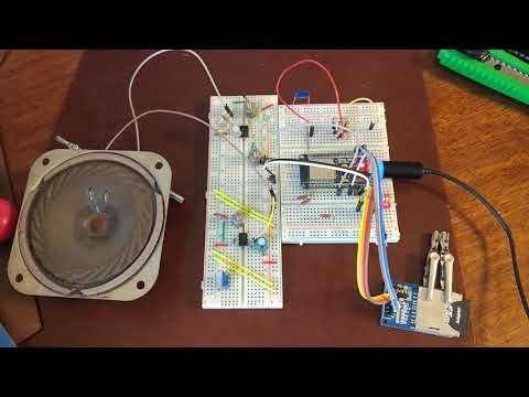 Esp32 play mp3 from microsd directly to builtin dac (no arduino