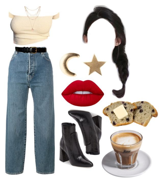 """""""18:52 pm"""" by georgia78 ❤ liked on Polyvore featuring Vetements, Social Anarchy, Yves Saint Laurent, Topshop, Lime Crime, Forever 21 and Saeco"""