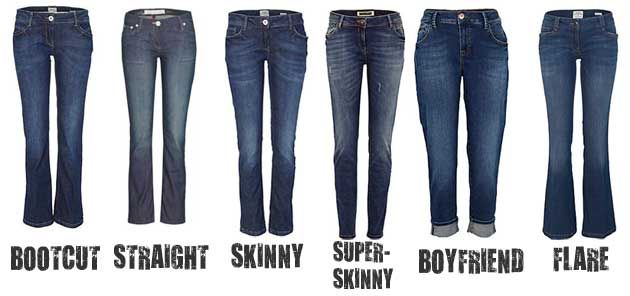 What is the difference between bootcut, straight, skinny, boyfriend, and flare-legged jeans? Here is a quick reference to the different styles of jeans.