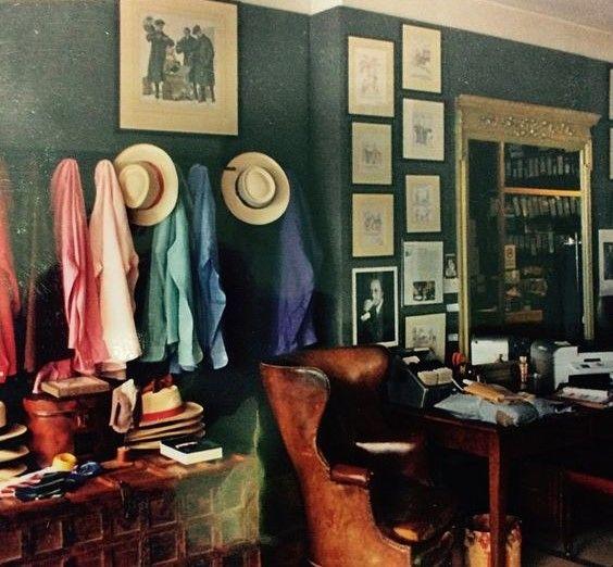 Doug Hayward's atelier on Mount St, circa 1970s