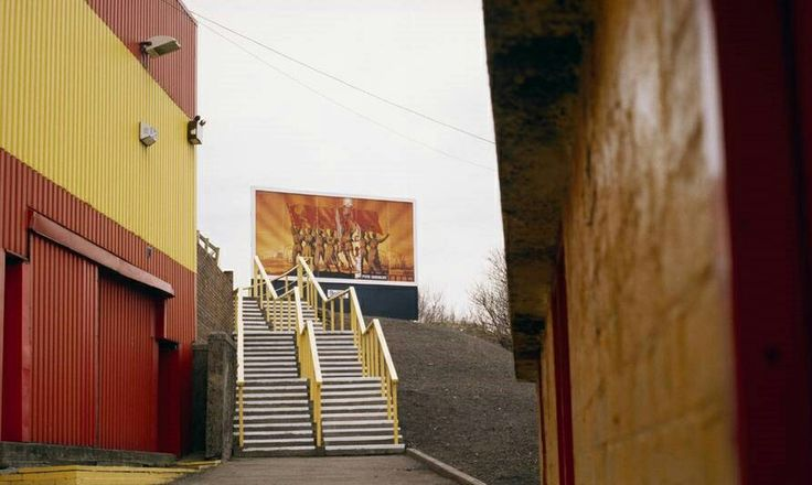 Cliftonhill Stadium, Albion Rovers in the 1980s.