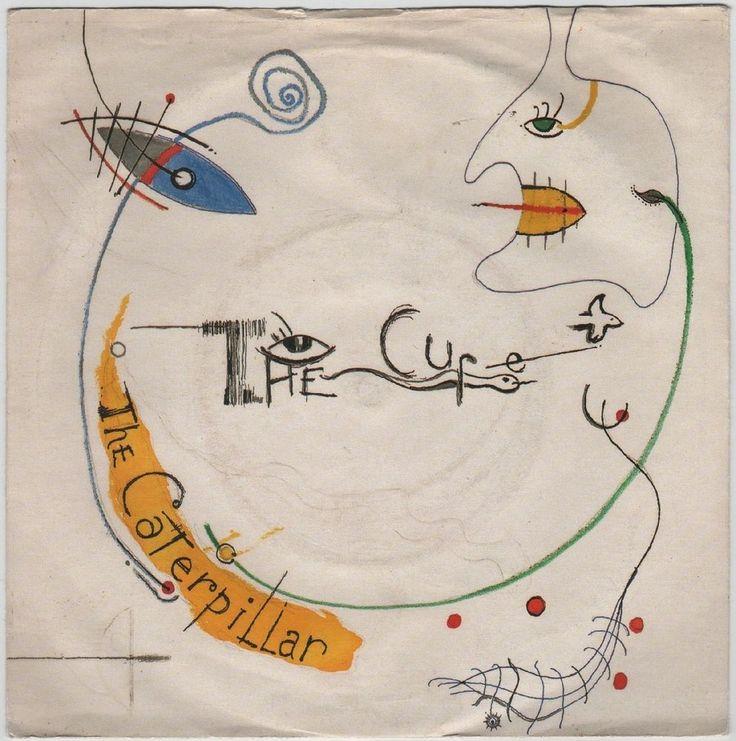 "The Cure - Caterpillar, 7"" vinyl single, Fiction records, c.1984, paper labels"