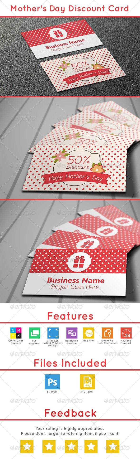 163 best voucher template design images on pinterest gift mothers day discount card yadclub Image collections