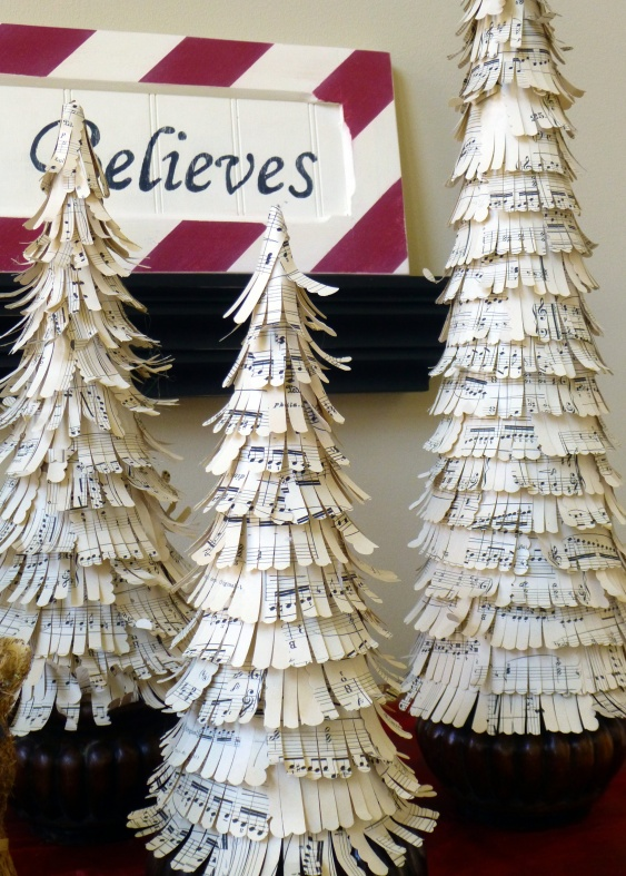 Music Sheet Christmas Trees Tutorial