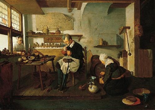 1660's Dutch shoe shop