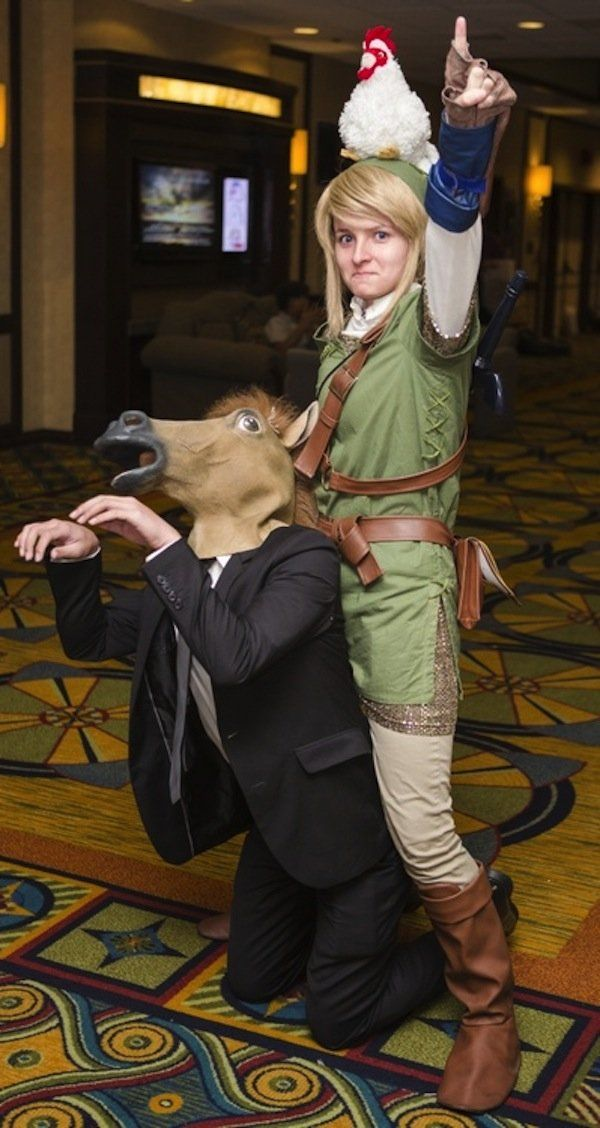 Link / 'Epona' cosplay via Suriken. Really love when cosplay stays as accurate as possible :)