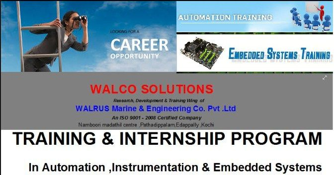 Looking for a thrilling career?? Here it is... register today through http://walcosolutions.com/registration for more details contact our executive  0484-329 8994 , +91 81298 26898 , +91 8129981111