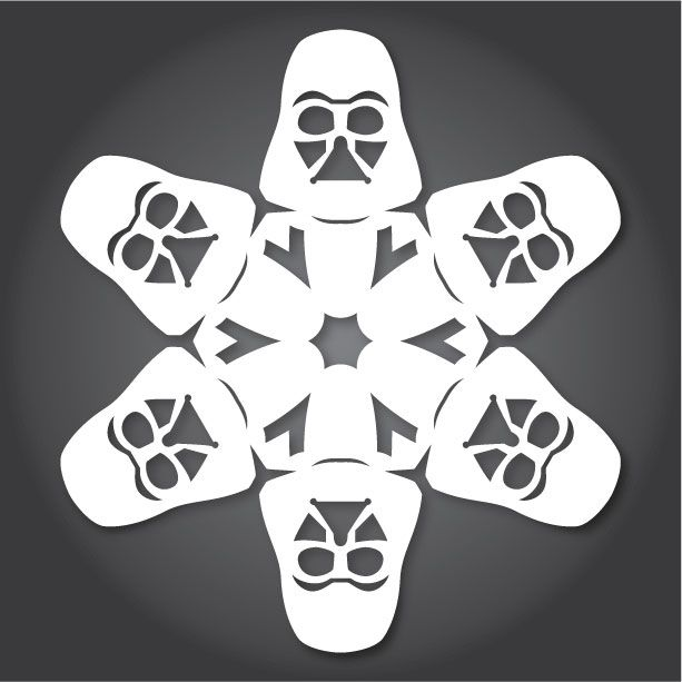 Star Wars Snowflakes - Dark Vador http://anthonyherreradesigns.com/index.php/component/content/article/8-ahd-blog/8-star-wars-snowflakes-2013