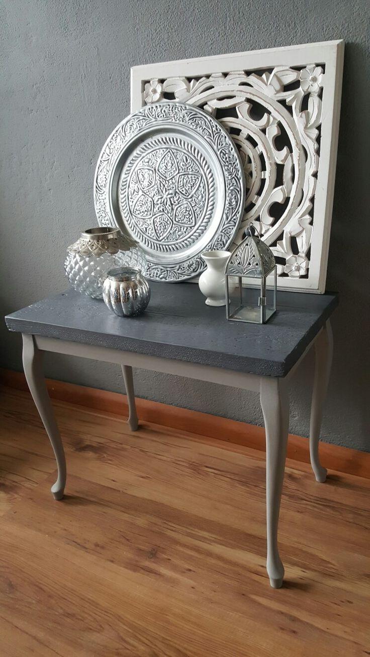 Modern marakesh op queen ann tafel met steigerhout blad