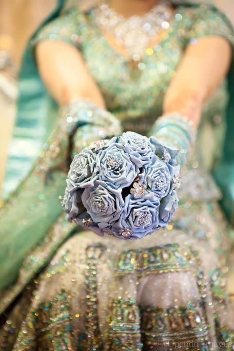 Dulhan Bride Indian Wedding Pakistani Bollywood Bouquet