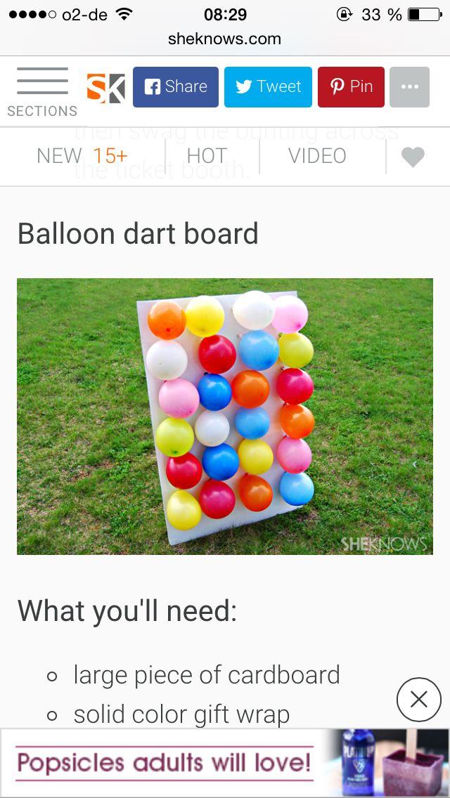 Ballon Wand Spiel