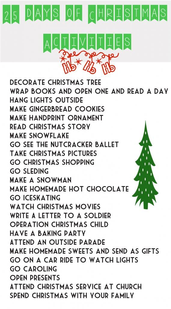 25 Days of Christmas Ideas
