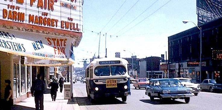 Street Scene, Des Moines, Iowa, 1962