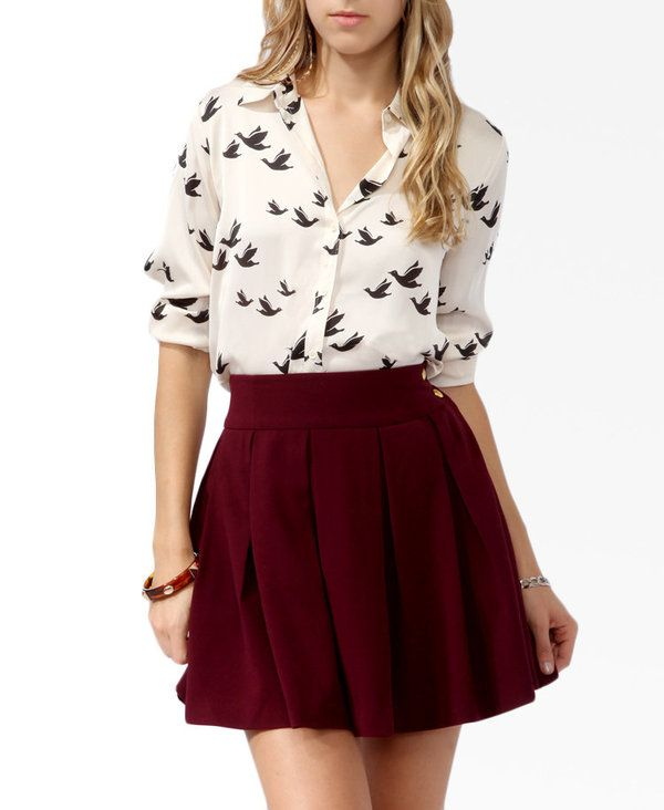 Maroon Mini Skirt
