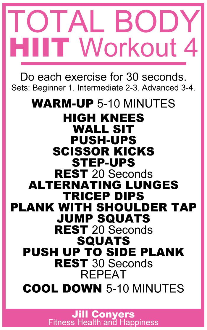 Total Body HIIT Workout 4