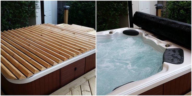 Elegant Hot Tub Cover Bar