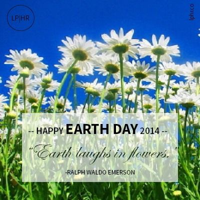 Earth laughs on flowers // Celebrate #EarthDay 2014