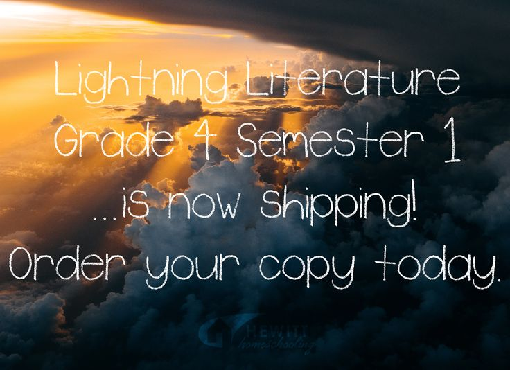 Lightning Lit Grade 4 Semester 1 is now shipping! Order your copy today. Click through for links to more info.