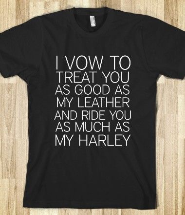 SOA LEATHER AND HARLEY WEDDING VOWS #soa #sonsofanarchy #motorcycle #tvshow #show #bride #wife #husband #gift #shirt