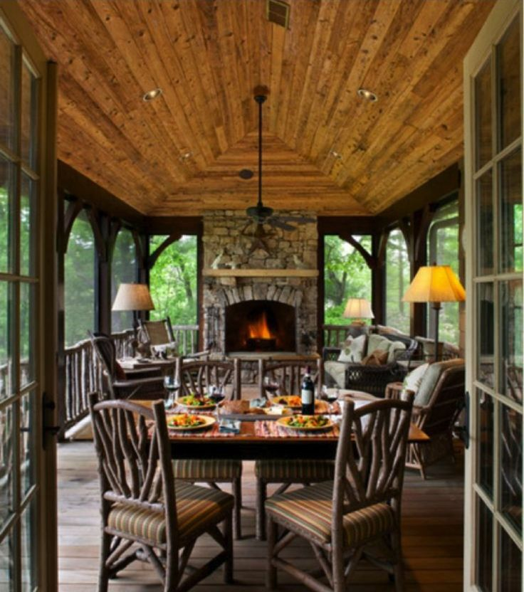 rustic sunroom decor google search ideas for the house pinterest rustic sunroom decor. Black Bedroom Furniture Sets. Home Design Ideas