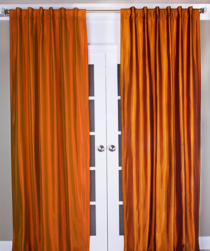 #5P550 Orange/Purple Faux Silk Curtain (Use Discount Code)