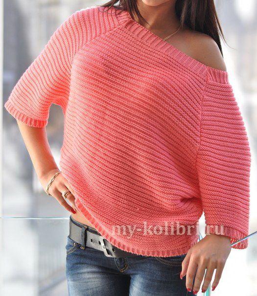 Модный свитер спицами с открытой спиной http://my-kolibri.ru/vyazanie-dlya-zhenshhin/svitera-puloveryi-topyi-koftyi/modny-j-sviter-spitsami-s-otkry-toj-spinoj/