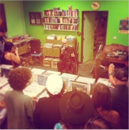 Kim Fowley At Burger Records Today